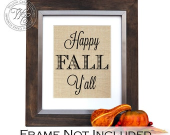 Happy Fall Y'all, Fall Decorations, Fall Wall Art, Thanksgiving Decor, fall decor, autumn decoration, home decor, autumn decor