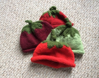 Knitted child's and toddlers hat