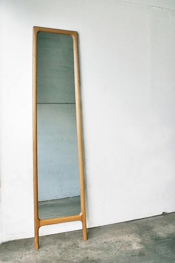 Superb Full Length Bedroom Mirror Mid Century Hardwood Rian