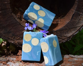 Gardenia Waters:  handmade soap, cold process soap, coconut milk soap, artisan soap, oatmeal soap