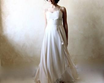 Wedding Dress, Wedding gown, Aline wedding dress, train wedding dress, beach wedding dress, simple wedding dress, hippie boho wedding dress