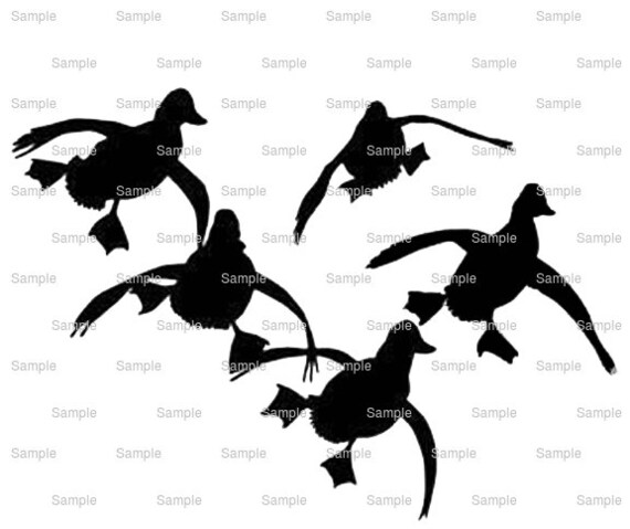 Landing Ducks Hunting Birthday - Edible Cake and Cupcake Topper For Birthday's and Parties! - D9962