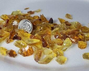 Crushed glass Honey Lemon 1# package  Size 2