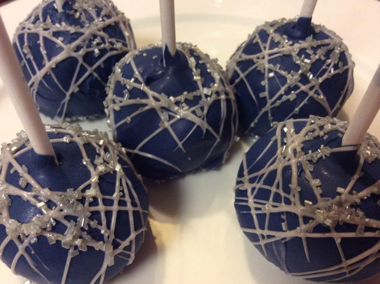 Blue Cake pops Silver Cake Pops Hanukkah Favors Dallas Cowboys