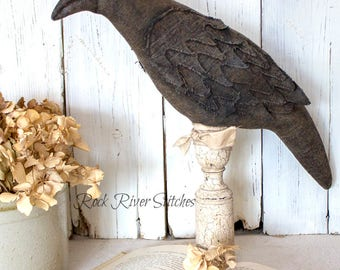 Primitive Crow Raven Make Do, Primitive Crow, Raven Home Decor, Bird Make Do, Black Crow