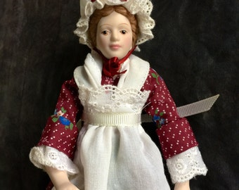 Vintage Early American 1987 Avon Porcelain Doll Collection