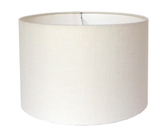 Lamp Shade Lampshade Pendant Off White Linen Made to Order