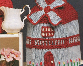 Vintage Knitted Windmill Tea Cozy Pattern