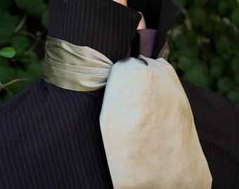 Short Silk Cravat - Several Light Colours Avaliable - Ascot - Tie - Handmade