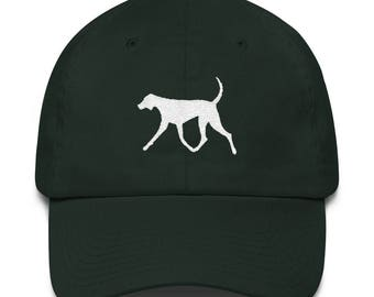 Made in USA Big Dog , Pointer Dog, Hunting Dog, Foxhound, embroidered on a Cotton CapCotton Cap