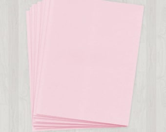 25 Sheets of Text Paper - Pink - DIY Invitations - Paper for Weddings & Other Events