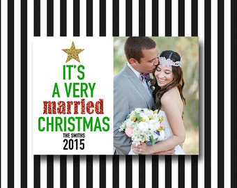 Newlywed Christmas Card: It's a Very Married Christmas