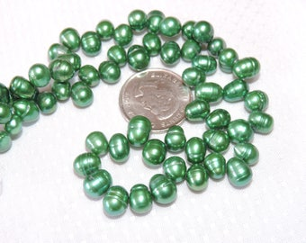 Freshwater Pearls - Bright Green