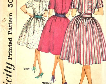 UNCUT Shirtdress Bust 36 Simplicity 3860 Vintage Sewing Pattern Size 16