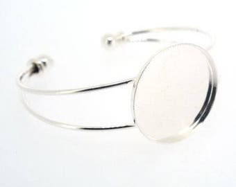 Support bracelet for gluing cabochons 24 mm