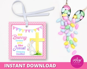 Religious easter etsy religious easter favor tag no bunny loves you like jesus party favor tags easter negle Image collections