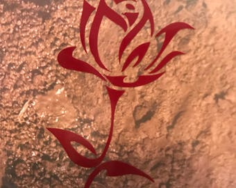 Tribal rose decal