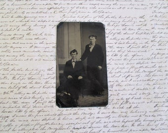 Vintage Tin Type - Two Gentlemen