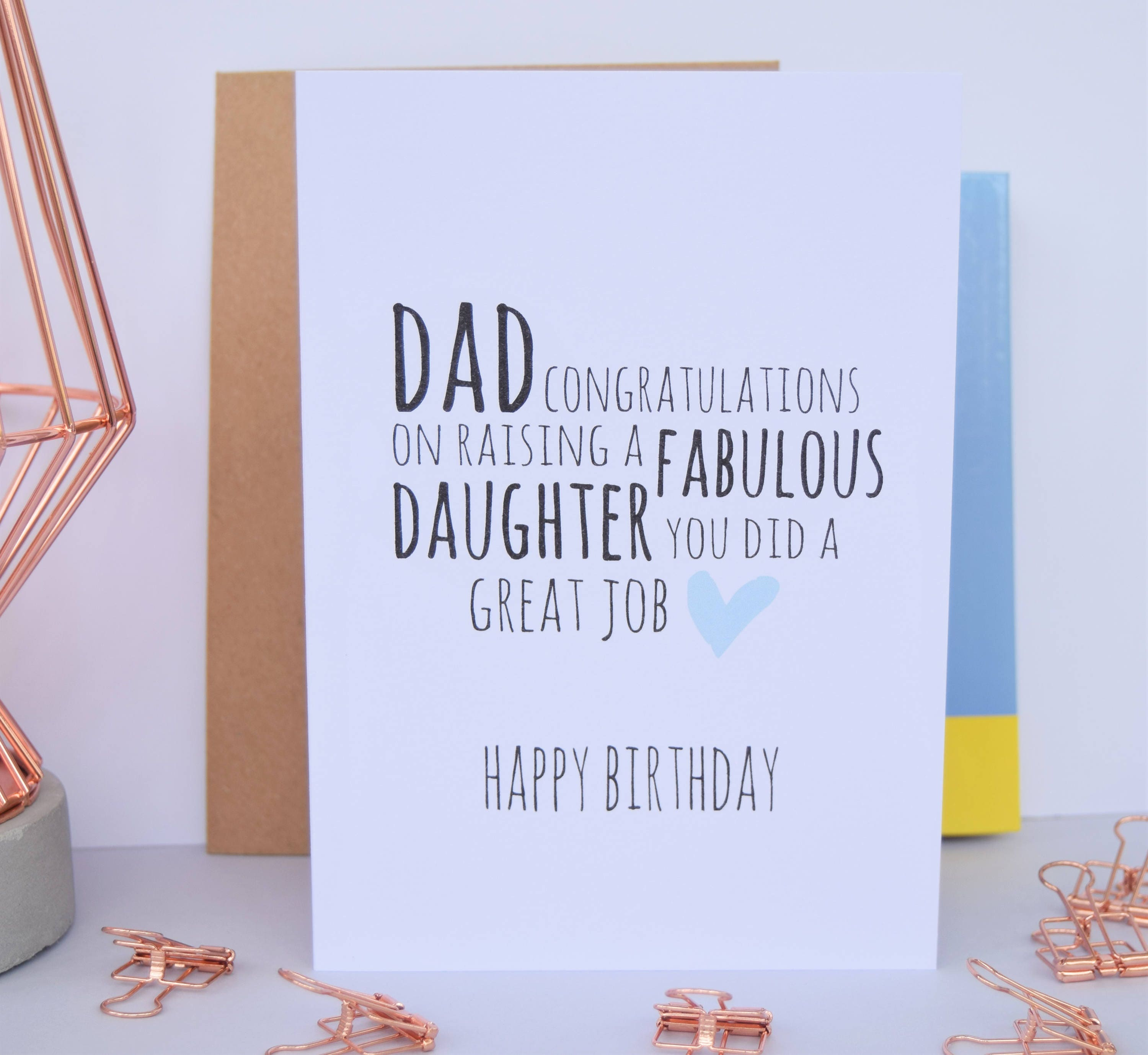 Dad birthday card fabulous daughter dad card from daughter zoom kristyandbryce Images