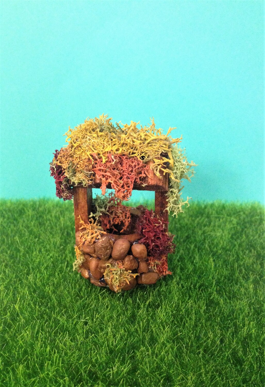 Wishing Well Fairy Garden Miniature Dollhouse Accessory