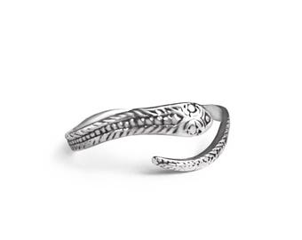 Perfect Snake Band Adjustable Sterling Silver Ring