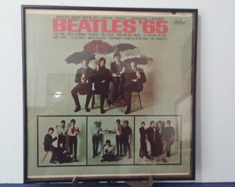 Rock History - Framed Vinyl Art - The Beatles - The Beatles '65  - Circa 1965