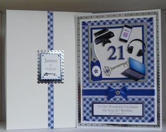 18th21st birthday card with presentation box daughterson birthday card 18th21st30th etc box songrandsonboyfriend etc bookmarktalkfo Choice Image