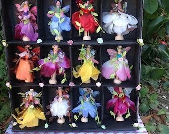 OOAK multi- cultural Garden Flower Fairies