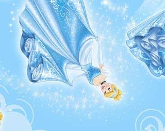 Disney Cinderella Character Toss Blue, 1 yard