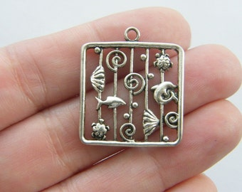 BULK 20 The Sea pendants tibetan silver SC29