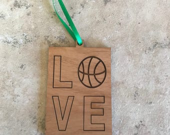 Wood Sports Lover Ornament