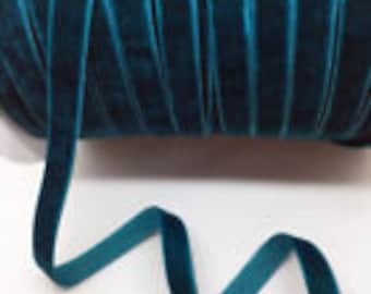 3/8 DEEP SEA Velvet Ribbon