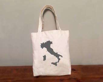 Italy Tote Bag with Optional Heart: Ready to Ship