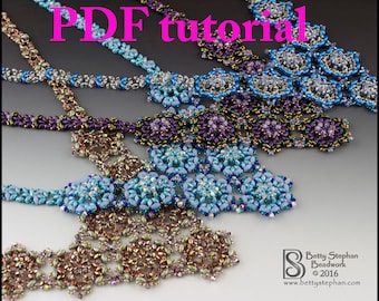 Liaisons Necklace PDF tutorial instant download-  beadwoven necklace intermediate