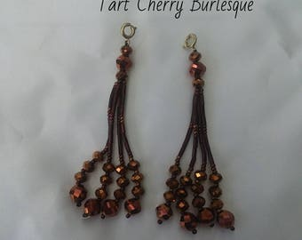 Copper Beaded Nipple Tassels for Burlesque Pasties