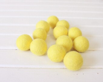 Lemon Felt Balls 12 count