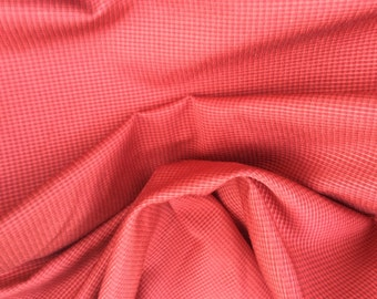 Ripe APPLE RED Micro CHECK Woven Upholstery Fabric, 25-60-05-0810