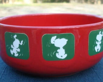 Snoopy Soup Cereal Bowl  Waechtersbach Germany Six Inch Diameter