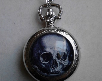 The Skull pocket watch necklace