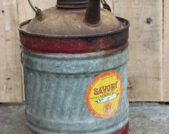 Charming Savory Galvanized Kerosene Can one Gallon