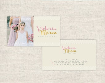 Photographer Business Cards - Wedding Photography Templates - Photo Marketing - Photoshop Files - Photography Branding - INSTANT DOWNLOAD