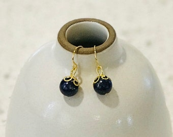 Lapis Lazuli Earrings - Gold or Silver