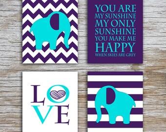 Kids (D) - You Are  My Sunshine - Elephant - AP - 4 Parts - (Digital Download, Instant Download, Printable)