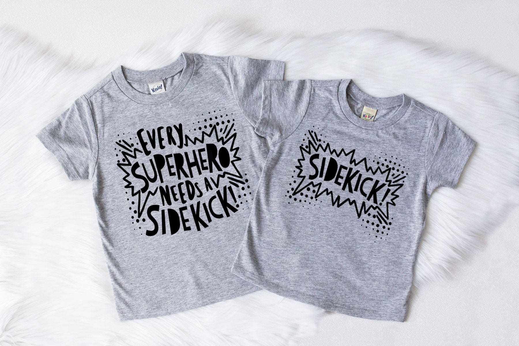 Superhero Shirt Superhero Sidekick Big Brother Little