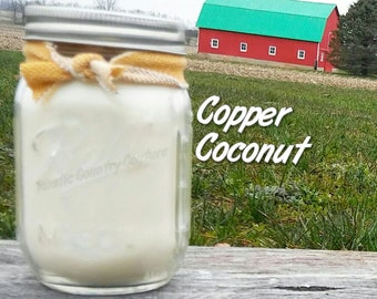Copper Coconut Soy Candle in 16 oz Jar