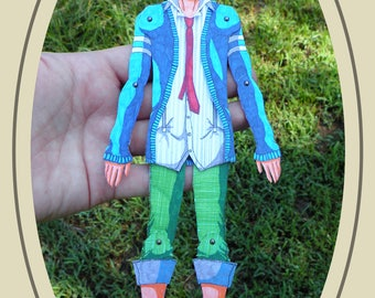 Christopher Articulated Paper Doll, Printable PDF, You Color