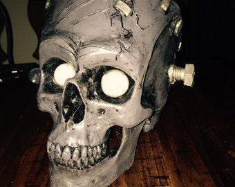 Franken skull with light up eyes