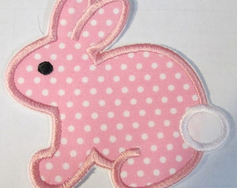 Easter Bunny - Iron On or Sew On Embroidered Applique