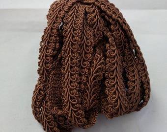 """French Gimp -  1/2"""" Brown Trim - Renaissance Faire - Victorian"""