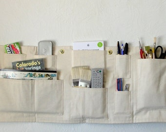 Organizer Space Saver with Grommets to Hang Anywhere - Washable Heavy Duty Canvas